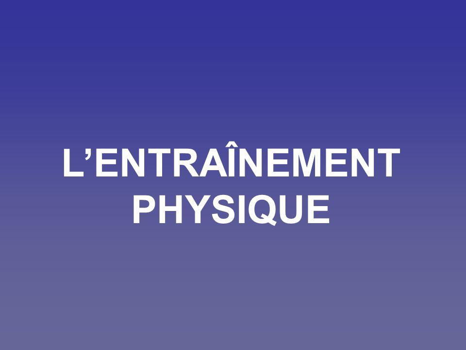 L'ENTRAÎNEMENT PHYSIQUE