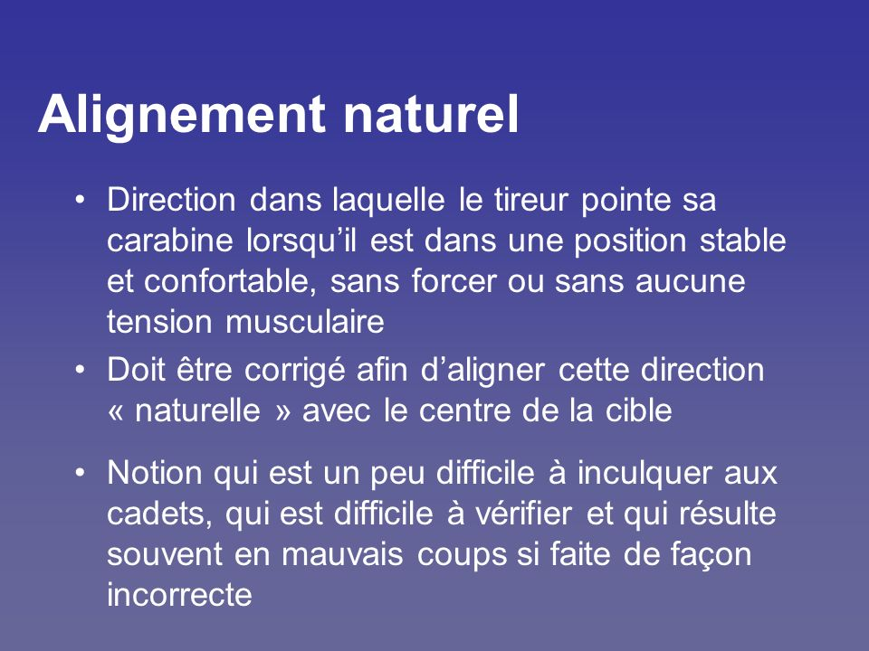 Alignement naturel