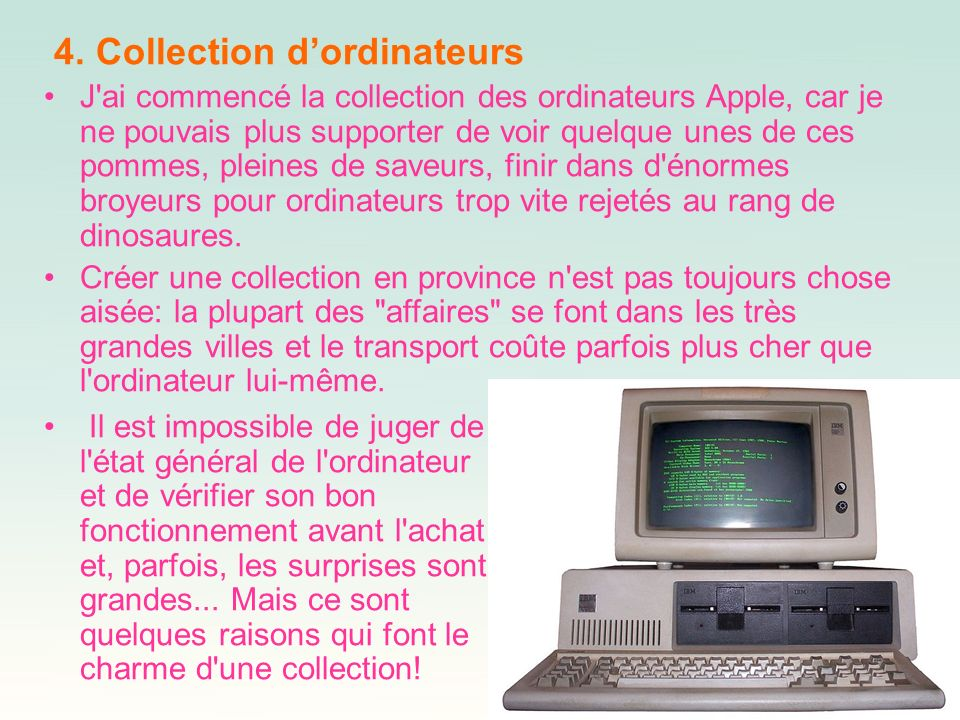 4. Collection d'ordinateurs
