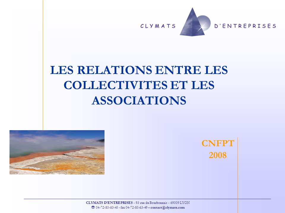 LES RELATIONS ENTRE LES COLLECTIVITES ET LES ASSOCIATIONS