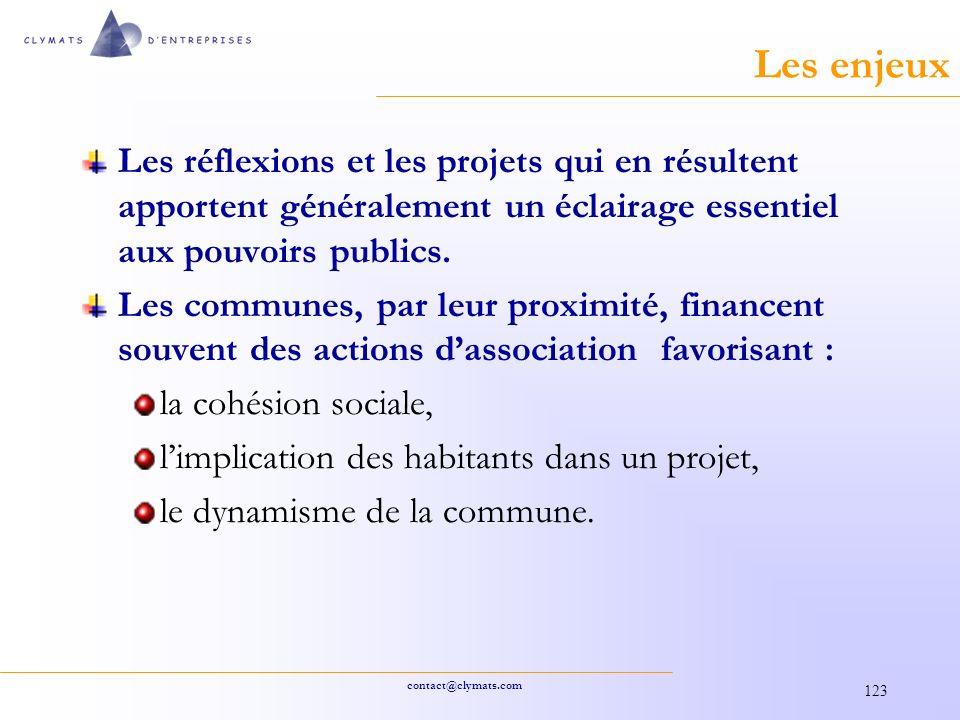 Les enjeux Les réflexions et les projets qui en résultent apportent généralement un éclairage essentiel aux pouvoirs publics.