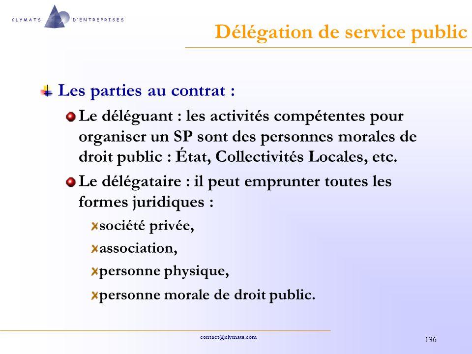 Délégation de service public