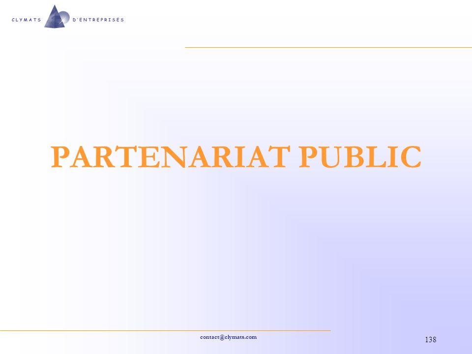 PARTENARIAT PUBLIC