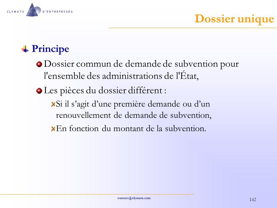Dossier unique Principe