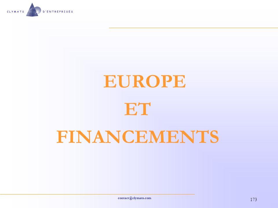 EUROPE ET FINANCEMENTS