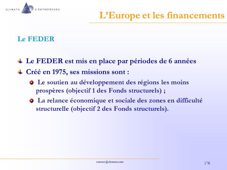 L'Europe et les financements