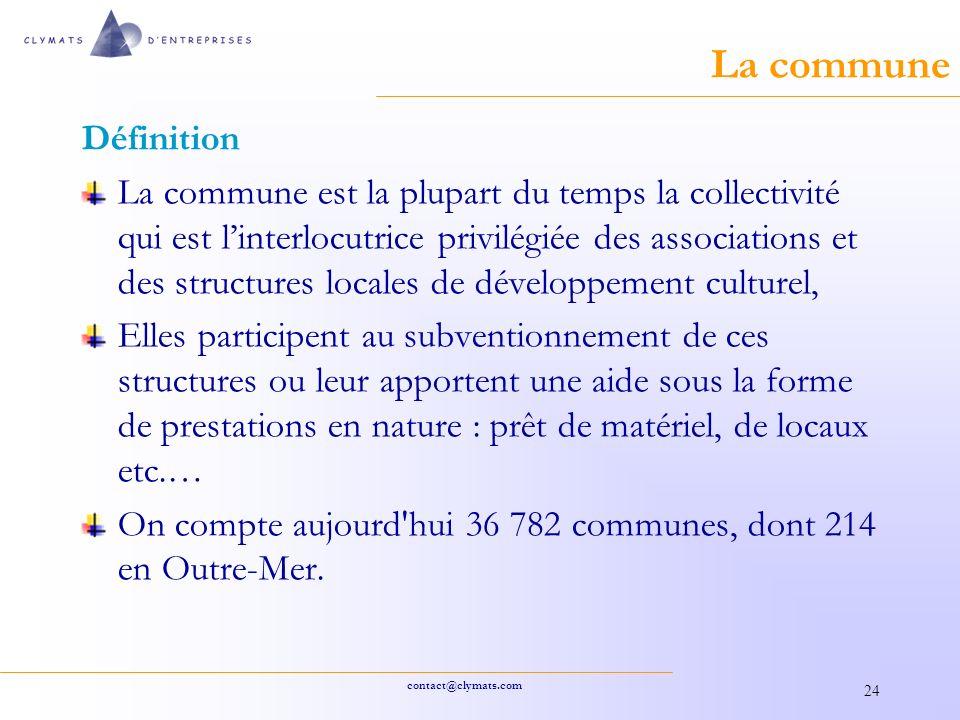 La commune Définition.