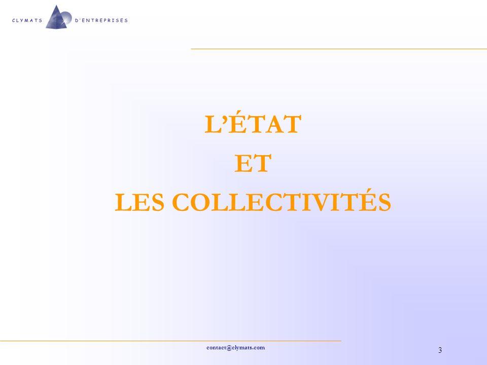 L'ÉTAT ET LES COLLECTIVITÉS