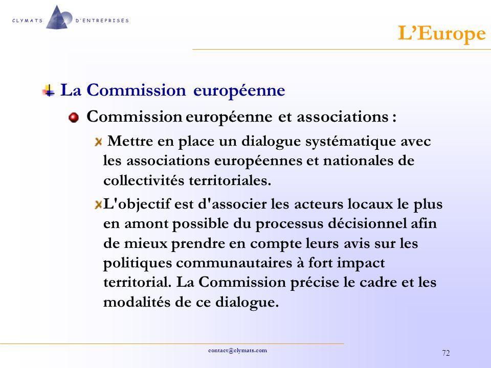 L'Europe La Commission européenne