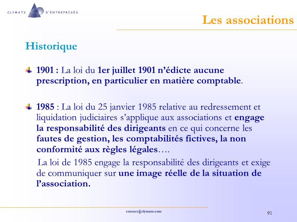 Les associations Historique