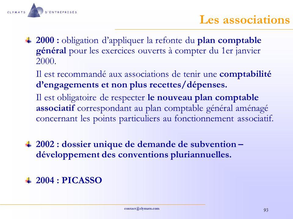 Les associations 2000 : obligation d'appliquer la refonte du plan comptable général pour les exercices ouverts à compter du 1er janvier 2000.