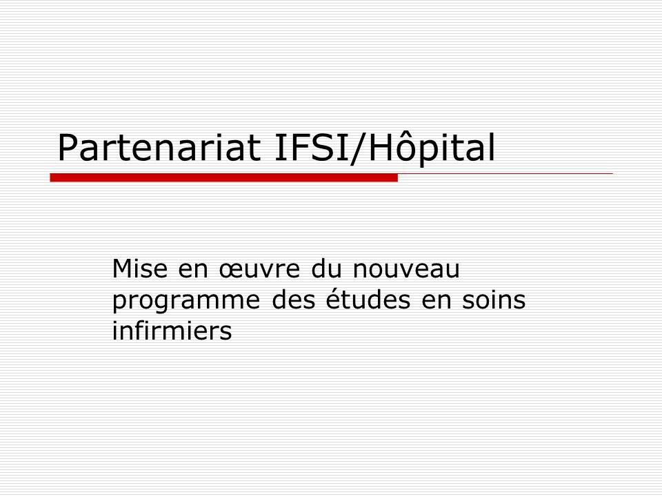 Partenariat IFSI/Hôpital