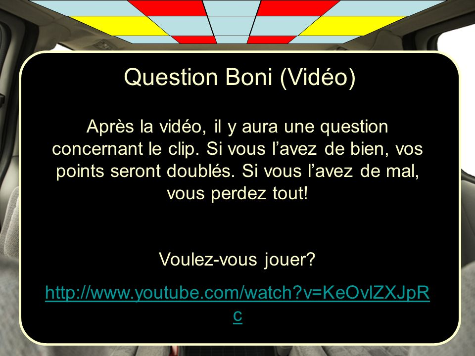 Question Boni (Vidéo)