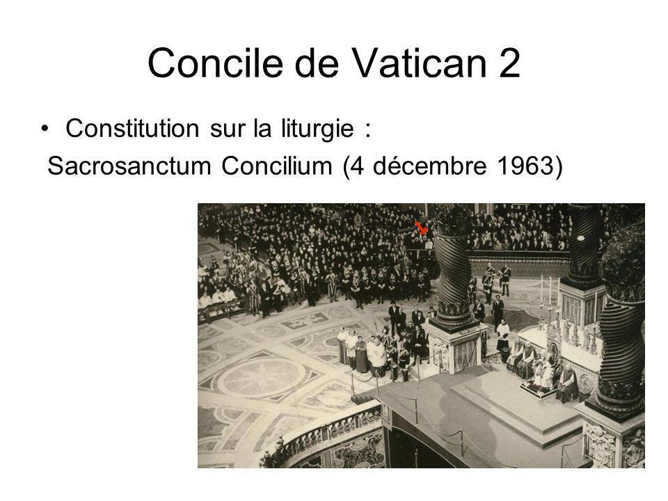 Concile de Vatican 2 Constitution sur la liturgie :