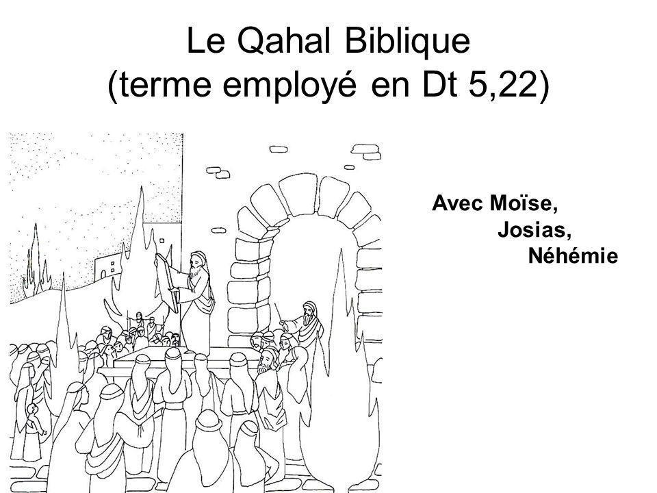 Le Qahal Biblique (terme employé en Dt 5,22)