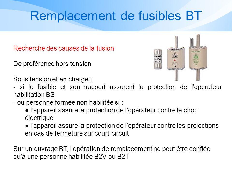 Remplacement de fusibles BT