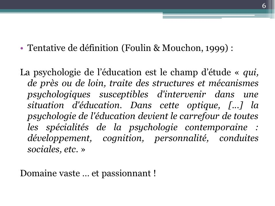Tentative de définition (Foulin & Mouchon, 1999) :