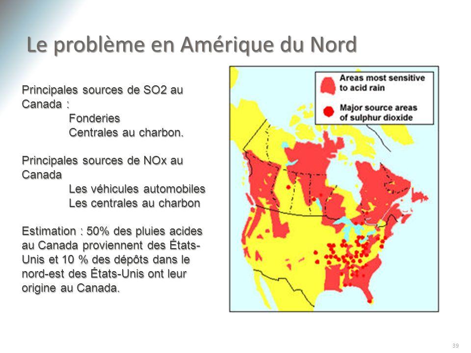 Le problème en Amérique du Nord