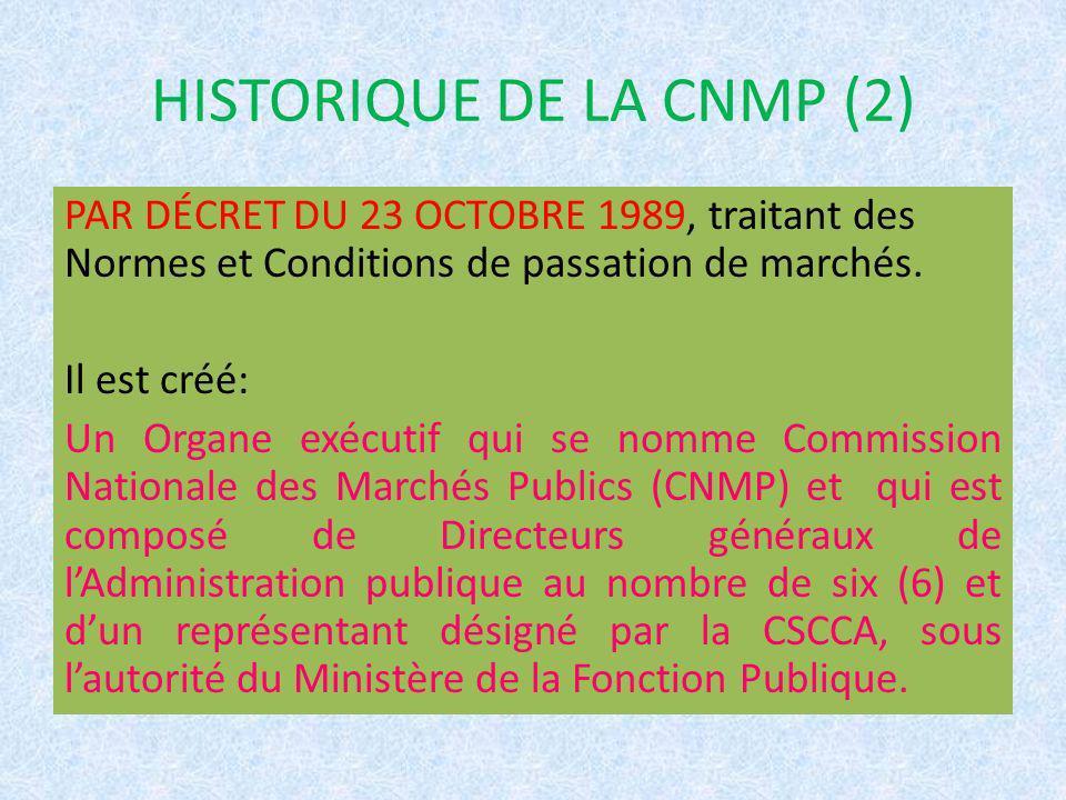 HISTORIQUE DE LA CNMP (2)
