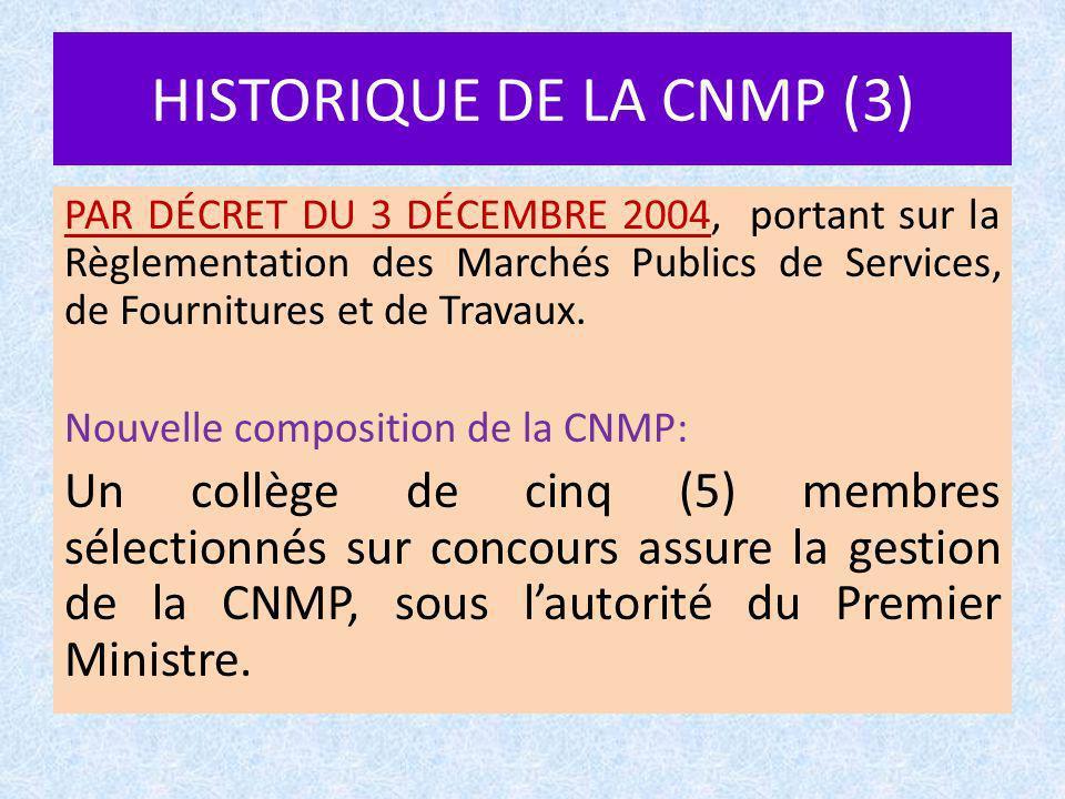 HISTORIQUE DE LA CNMP (3)