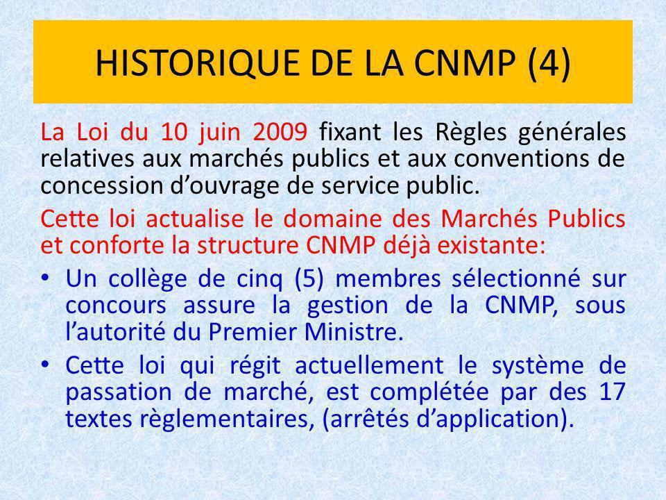 HISTORIQUE DE LA CNMP (4)