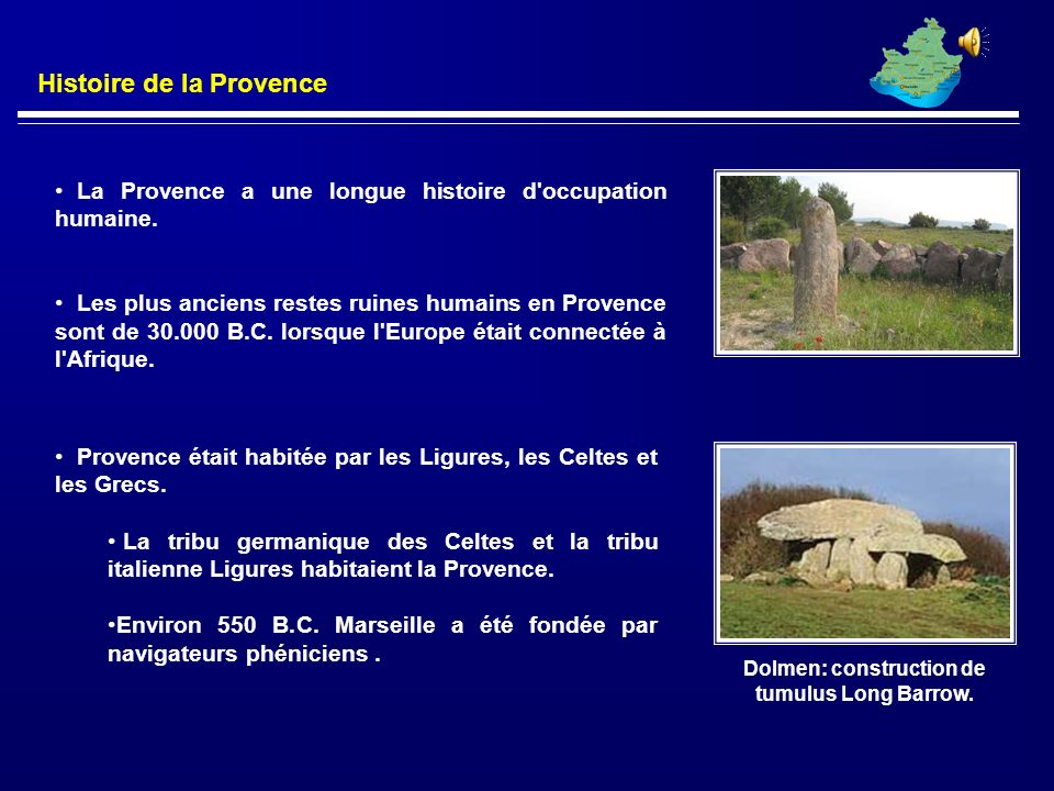 Dolmen: construction de tumulus Long Barrow.