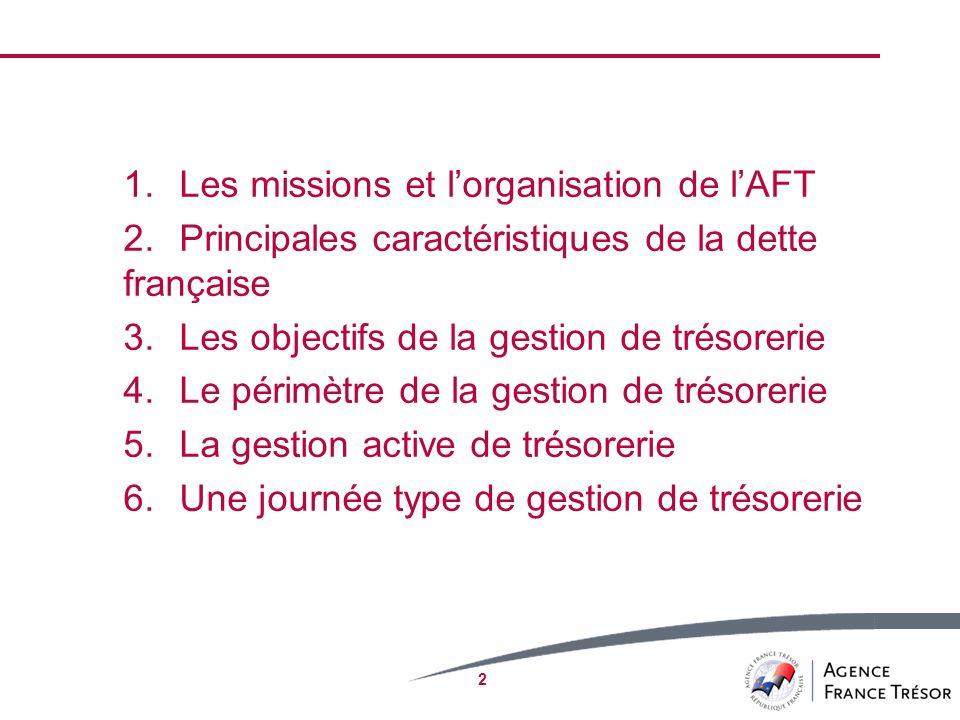 Les missions et l'organisation de l'AFT