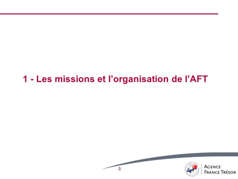 1 - Les missions et l'organisation de l'AFT