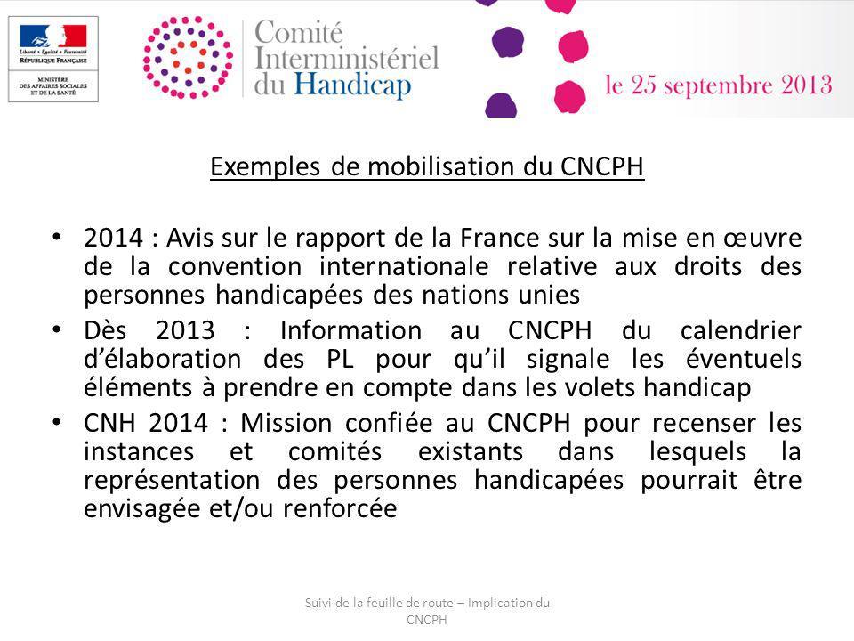Exemples de mobilisation du CNCPH