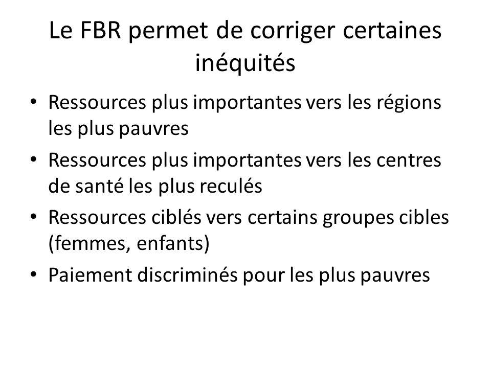 Le FBR permet de corriger certaines inéquités