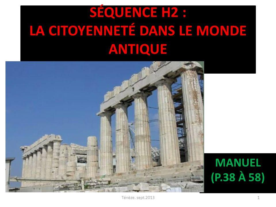 Séquence H2 : la citoyenneté dans le monde antique