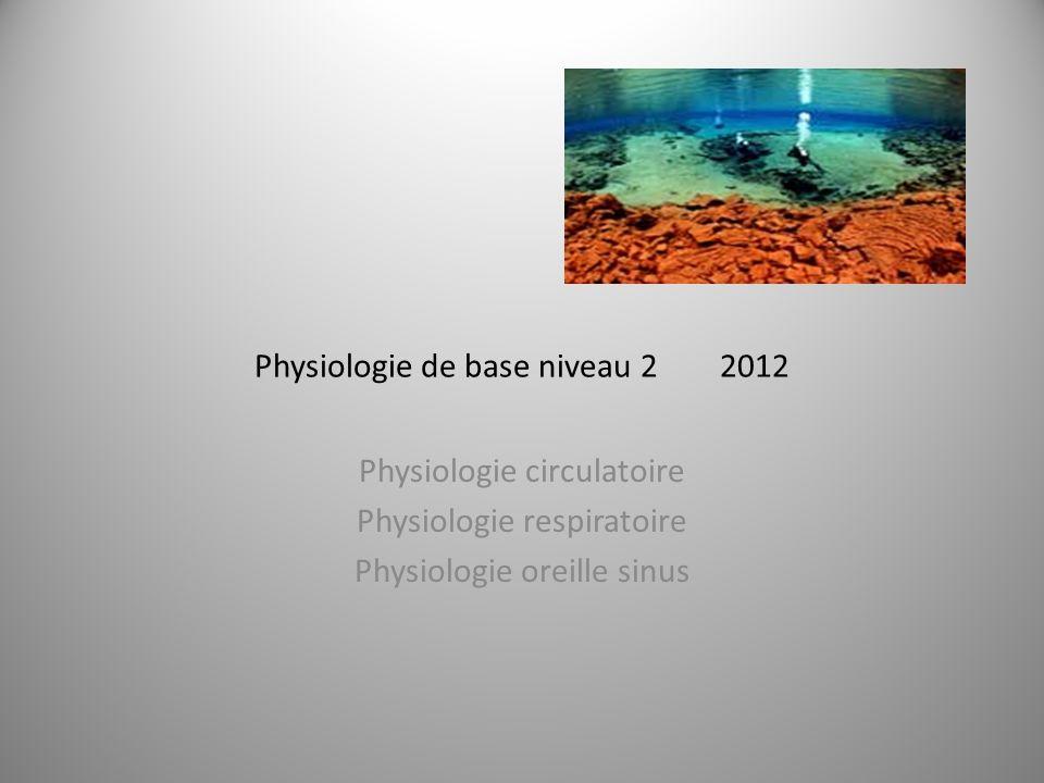 Physiologie de base niveau 2 2012
