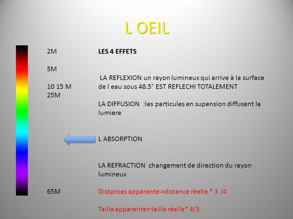 L oeil 2M. 5M. 10 15 M. 25M. 65M. LES 4 EFFETS.