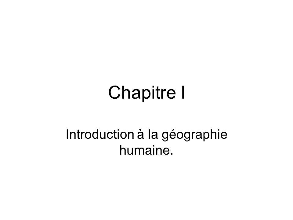 Introduction à la géographie humaine.