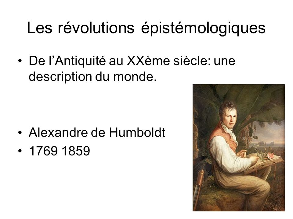 Les révolutions épistémologiques