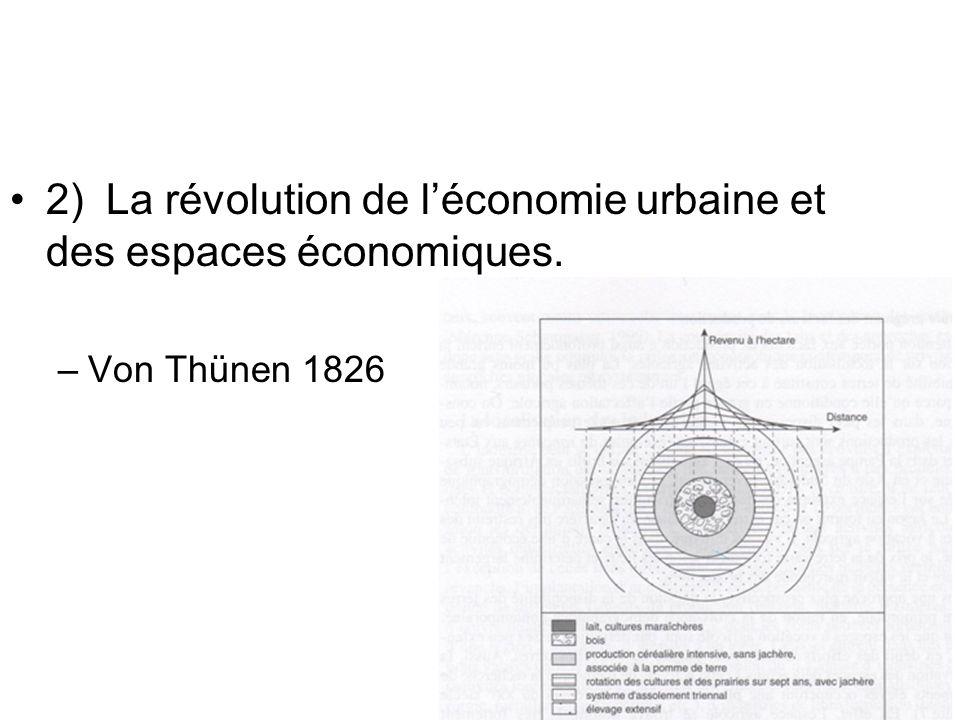 2) La révolution de l'économie urbaine et des espaces économiques.
