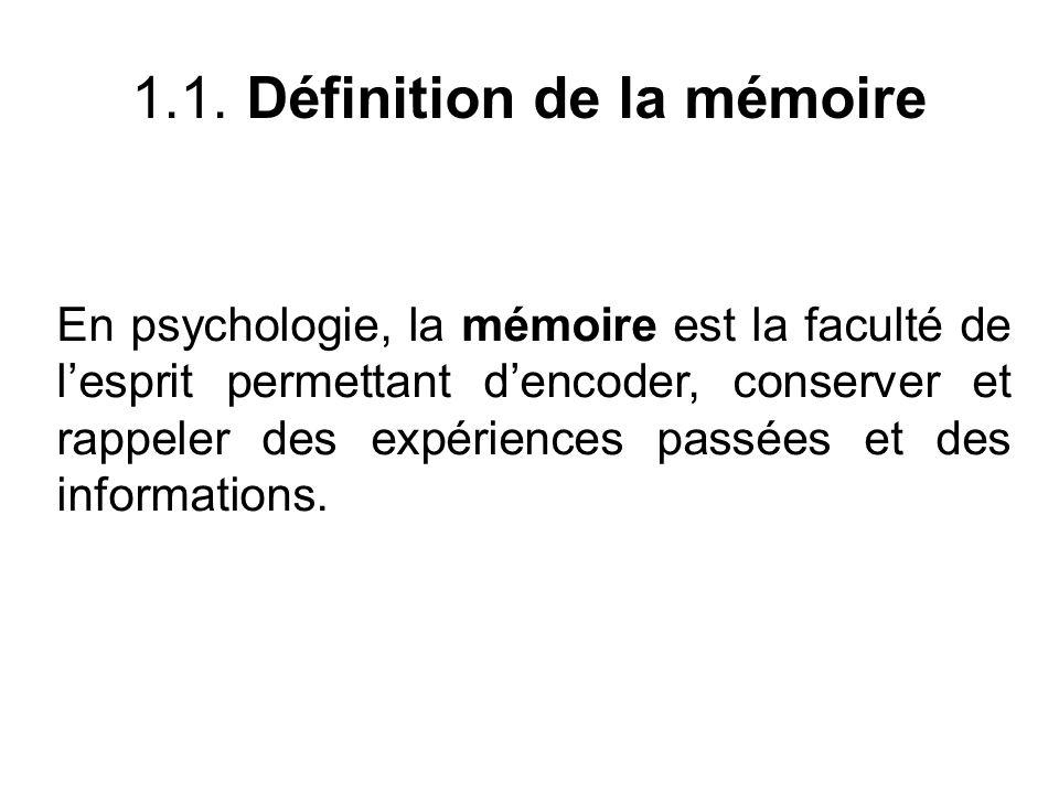 1.1. Définition de la mémoire