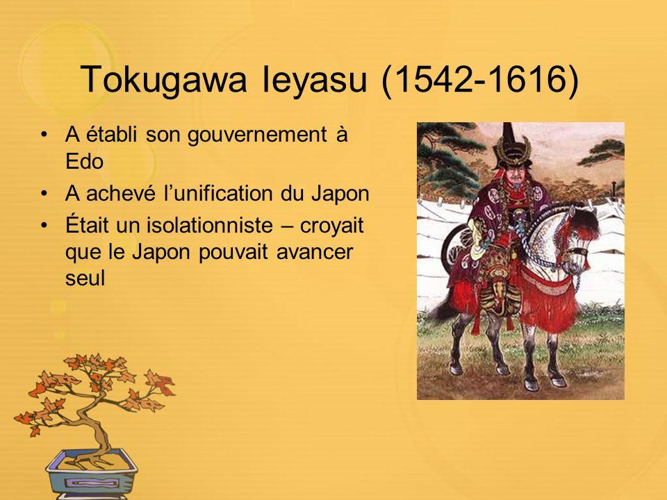 Tokugawa Ieyasu (1542-1616) A établi son gouvernement à Edo