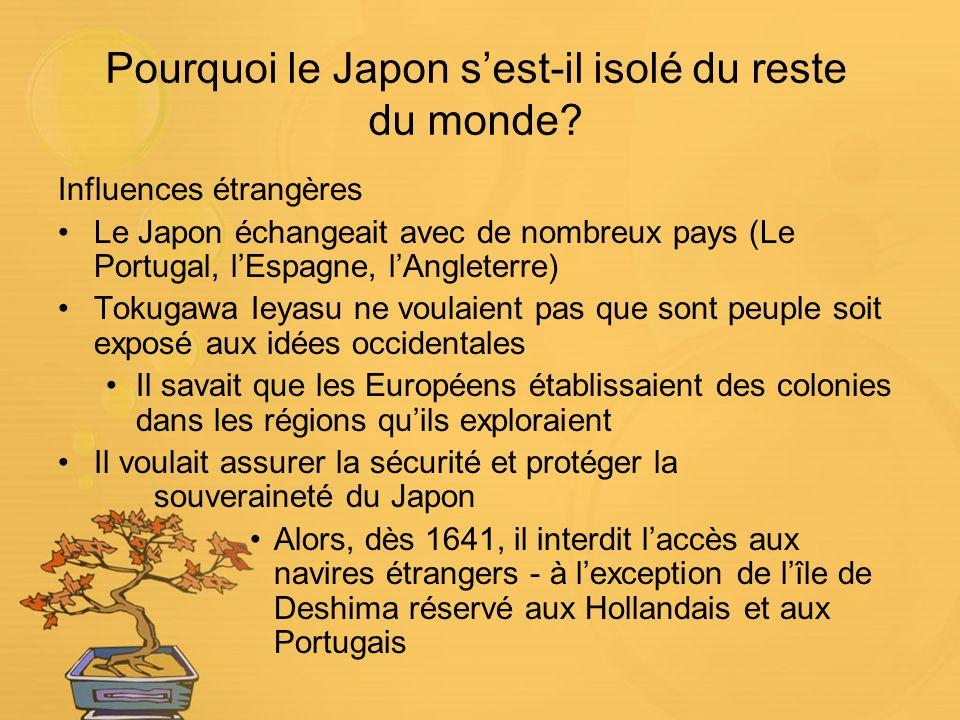 Pourquoi le Japon s'est-il isolé du reste du monde