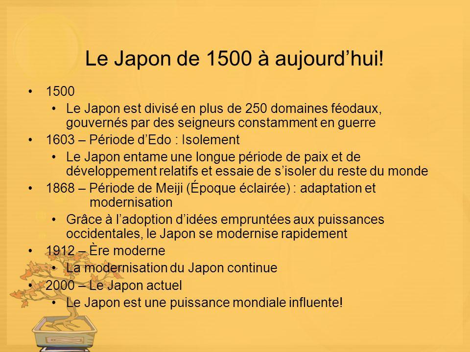 Le Japon de 1500 à aujourd'hui!