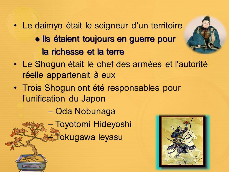 Le daimyo était le seigneur d'un territoire