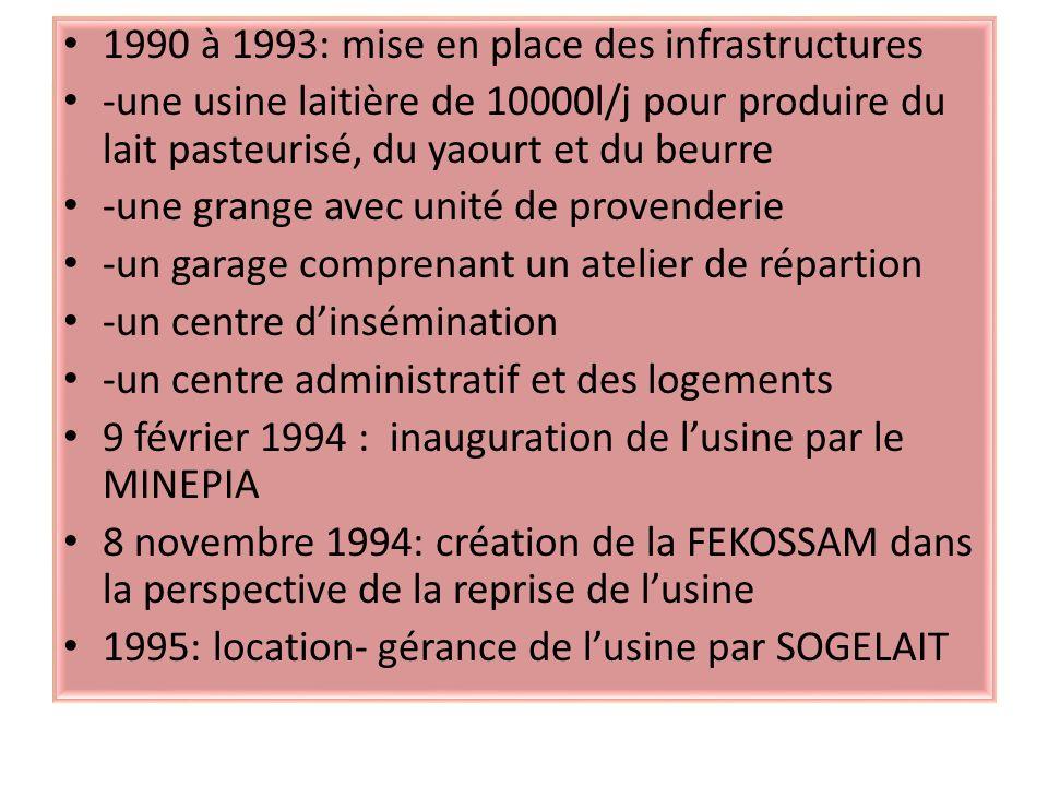 1990 à 1993: mise en place des infrastructures