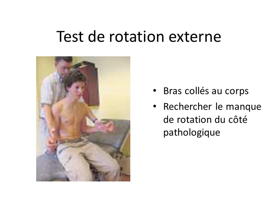 Test de rotation externe