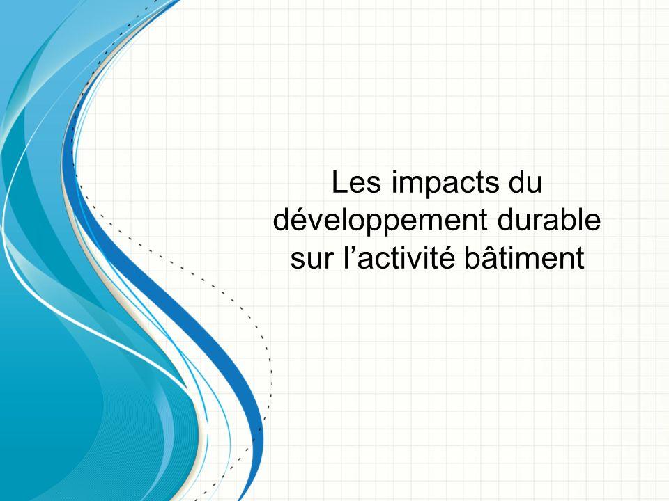 Les impacts du développement durable sur l'activité bâtiment