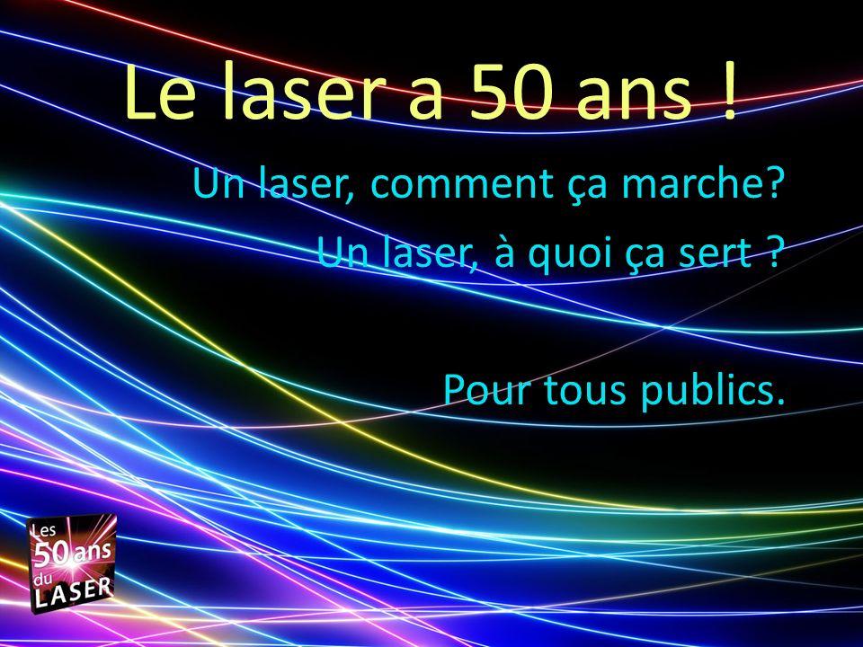 Le laser a 50 ans ! Un laser, comment ça marche