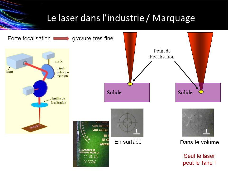 Le laser dans l'industrie / Marquage