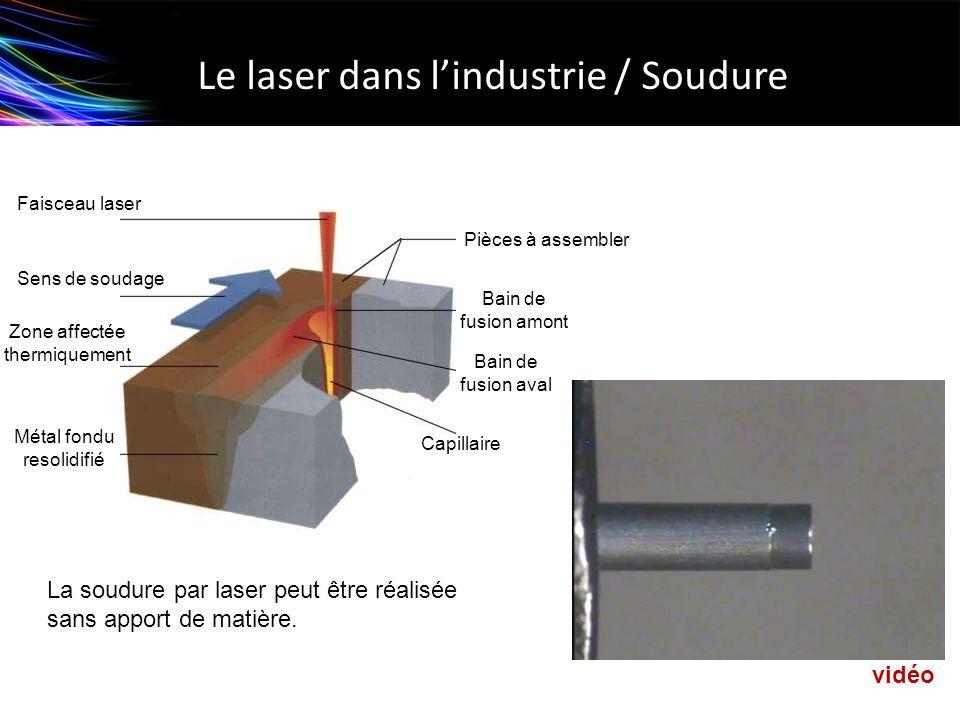 Le laser dans l'industrie / Soudure