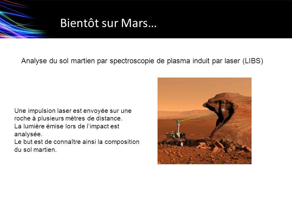 Bientôt sur Mars… Analyse du sol martien par spectroscopie de plasma induit par laser (LIBS)