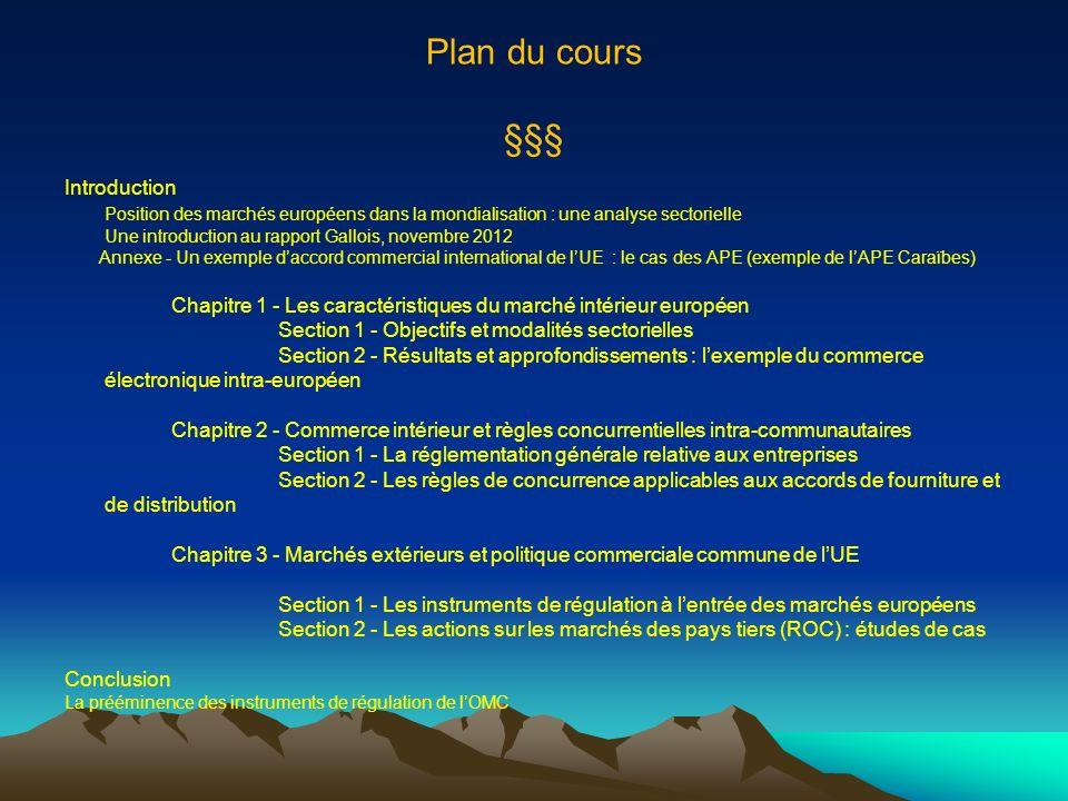 Plan du cours §§§ Introduction