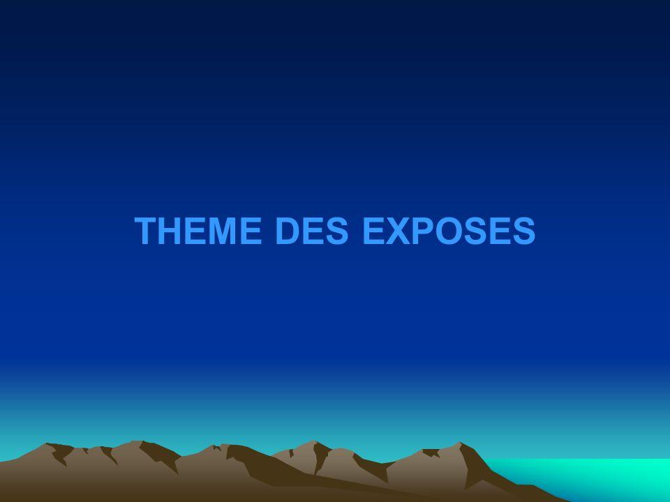 THEME DES EXPOSES